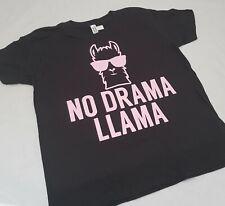 No Drama Llama Tshirt Age 3 - 13yrs and Unisex S -XXL