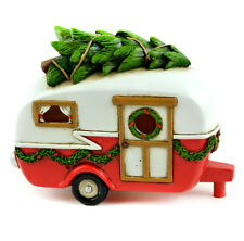 Fairy Garden Christmas Miniature - Christmas LED Red Camper