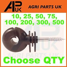 PICK QTY Pack Small Screw Ring Insulators Electric Fence Wire Rope Fencing Horse