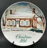 Smuckers Collector Series Edison Birthplace Christmas Plate 1991 David Coolidge
