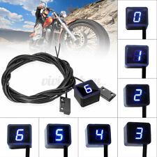Universal Motorcycle Blue LED Digital Gear Indicator Display Shift Lever Sensor