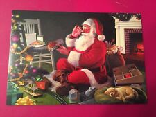 Leanin' Tree Christmas Card -  Santa, Model Trains & Dog Theme - Inventory #786