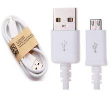 Cable de Datos y Carga para Samsung Galaxy S7 S7 Edge Micro USB 90cm Blanco