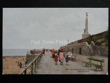 Wales ABERYSTWYTH War Memorial from Promenade c1944 by J. Salmon 4362