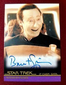 2009 Star Trek Generations BRENT SPINER AS LT. CMDR. DATA AUTOGRAPH #A100