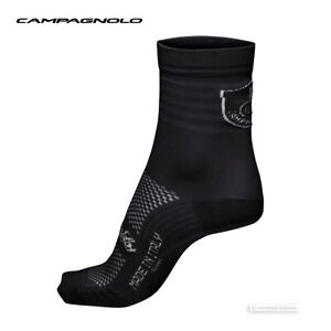 NEW Campagnolo LITECH Lightweight Cycling Socks : BLACK One Pair