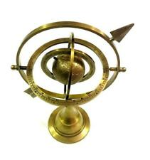 "10"" Brass armillary sphere globe with zodiac sign for home Decor"