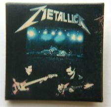 METALLICA On Stage Square Pin Badge Unusual Rare(NOT shirt patch lp)