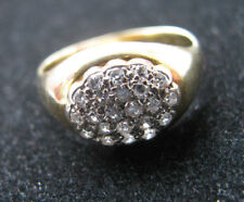 18ct Yellow Gold 0.50ct Diamonds Vintage Ring 4.9g UK Size P Us 8 Nicest & Mint