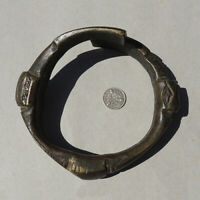 a large bronze overlapping african bracelet nigeria #177