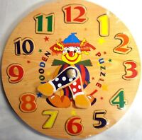 Wooden Learn to Tell the Time Wooden Clock & Jigsaw (Great Education Toy) Number