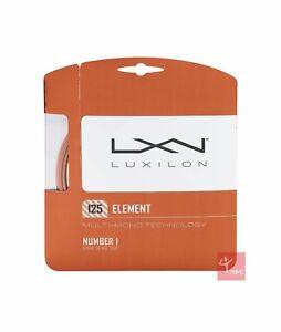 Luxilon Element 125 Tennis String Set - 16L / 1.25mm - Bronze