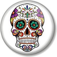 """Mexican Sugar Skull 25mm 1"""" Pin Button Badge Halloween Day of the Dead Ornate"""