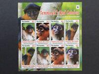 Gambia 2016 Endangered Animal Monkey Sheet MNH
