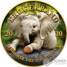 BABY ELEPHANT Krugerrand Big Five 1 Oz Silver Coin 1 Rand South Africa 2020