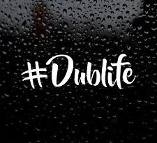 #DubLife Volkswagen Dub vida Calcomanía logotipo para coche/van/Laptop Pegatina de vinilo Dub