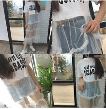 Basic TEE Fashion letter Cake lace Harajuku pullover Women's Ladies Tops Blouse