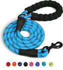 Dog Leash 5FT Large Pet Rope Heavy Duty Reflective Nylon Leads with Comfy Handle