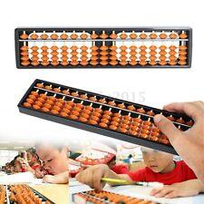Plastic Abacus 17 Digits Arithmetic Soroban School Maths Kids Calculating Tool