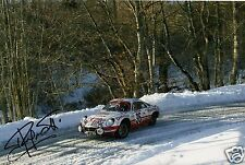 "World Rally Championship Driver Jean Ragnotti Hand Signed Photo 12x8""  AB"