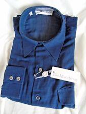 GIAN MARCO VENTURI -ITALY SMART ELEGANT DESIGNER BLUE DRESS/PARTY SHIRT S
