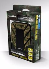 New ADATA HD710M 2TB Camouflage External Hard Drive Waterproof Shockproof 2 TB
