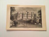 T27) Buckingham Palace Royal Palace London England c. 1879 Engraving