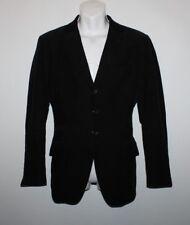 """Black Corduroy H & M Button Tailored Fit Hip Length Jacket Blazer Chest Sz 43"""""""