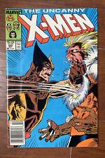 Uncanny X-Men #222 MARVEL 1987 Wolverine vs Sabretooth