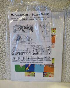 McDonald's McDonaldland 6 Puzzles with 8 Blocks NEW Sealed