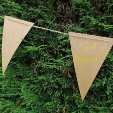 Guirlande Just Married argent métallisé lettres Guirlande Bannière 160cm Mariage