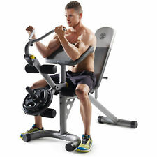 Golds Gym Xrs20 With Squat Rack Weight Lifting Bench Press Exercise Workout