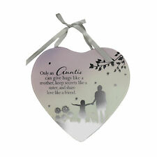 Auntie & Friend Reflections From The Heart Mirrored Hanging Plaque Gift