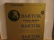 GYORGY SANDOR BARTOK PIANO MUSIC VOL 3 LP STEREOVOX NEAR MINTVINYL VOX BOX