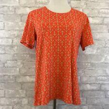 Coral Bay Size Medium Shirt Women's Cotton Blend Short Sleeve Lightweight