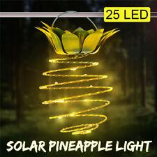 25 LED Solarlampe Solarleuchte Ananas Lampion Hängelampe Gartenlampe Gartendeko