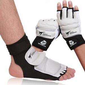 High-Quality Taekwondo WT Pu Hand Gloves Foot Socks Protector Guard Karate Box
