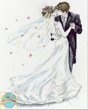 Cross Stitch Kit ~ Design Works Elegant Wedding Couple First Kiss #DW2844