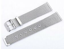 New16mm Lug Milanese Mesh Silver Stainless Steel Watch Strap Band 16 mm W7 UK