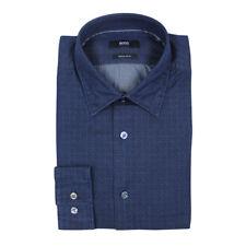 Hugo Boss Lance Navy Regular Fit Shirt Medium With Tags*