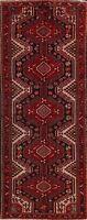 Vintage Geometric Hamedan Tribal Hand-knotted Runner Rug Hallway Oriental 4'x10'