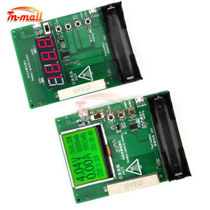 18650 Lithium Battery Capacity Tester maH mwH LCD LED Display Discharge Board