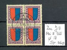 SWITZERLAND ZU# J 17 -BLOCK OF 4 ---CV -Sfr. 560 --USED LUXE