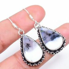 "Dendrite Opal Gemstone Handmade Fashion Jewelry Earring 1.7"" SE4880"