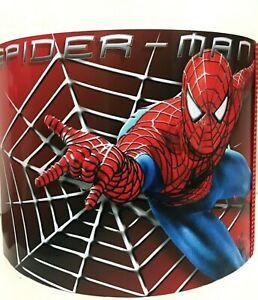 Marvel Avengers Red Spiderman handmade ceiling drum lampshade / boys room
