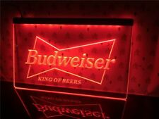 Budweiser Beer Bud Led Neon Light Up Sign Bar Pub Club ManCave Sport Gift Decor