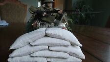 1/6 scale Sandbags Lot of 8 with real sand