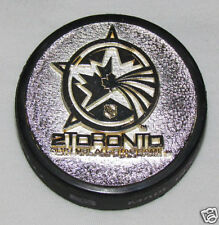 TORONTO 2000 NHL ALL-STAR GAME 3D LOGO METAL SILVER PUCK Rare! 3-D Maple Leafs