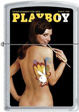 Zippo Playboy March 68 Cover Satin Chrome Windproof Lighter NEW RARE