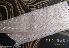 TED BAKER Studded Natural Envelope Crystal Astaire Clutch Bag - BNWT Gorgeous!